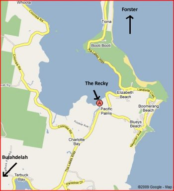 Pacific Palms Nsw Map Getting to The Recky